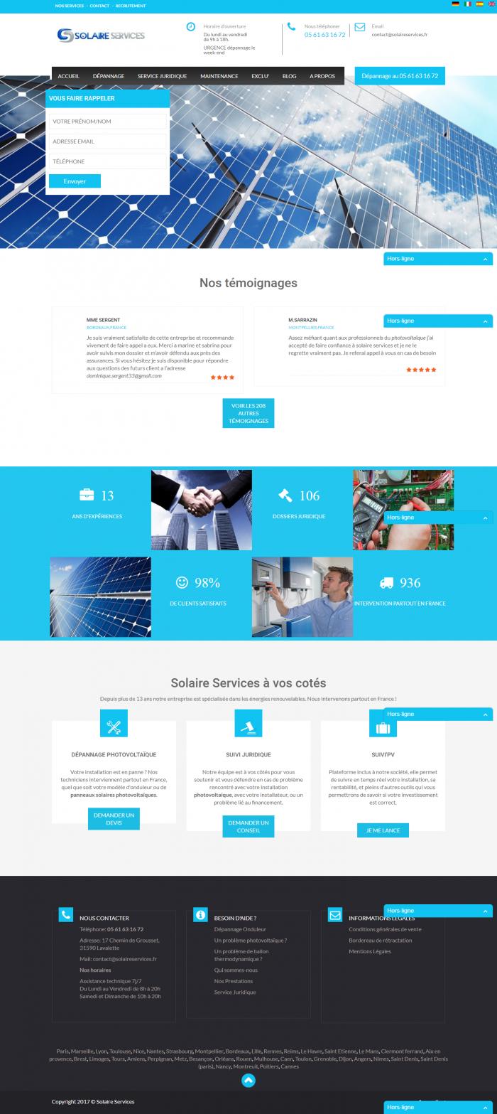 Фирмен сайт за соларни системи (френски език), https://webnime.com/