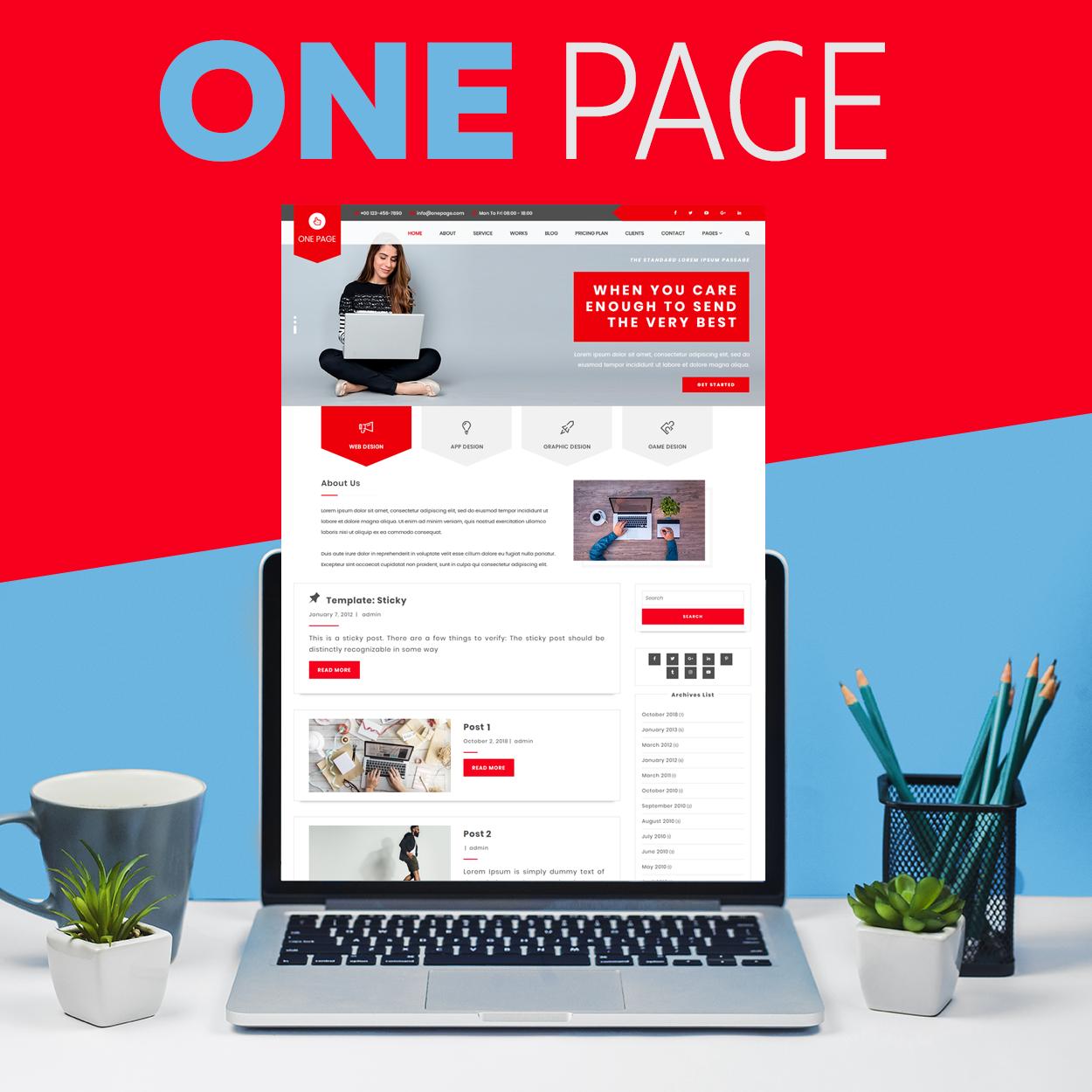 Изработка на One page уеб сайт, https://webnime.com/