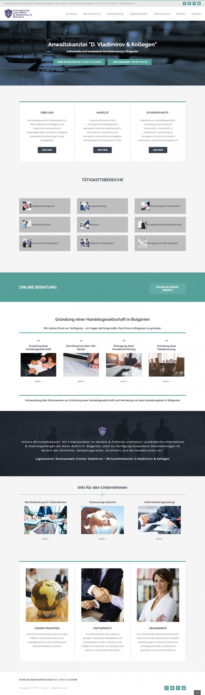 Уеб сайт за адвокати на немски, https://webnime.com/