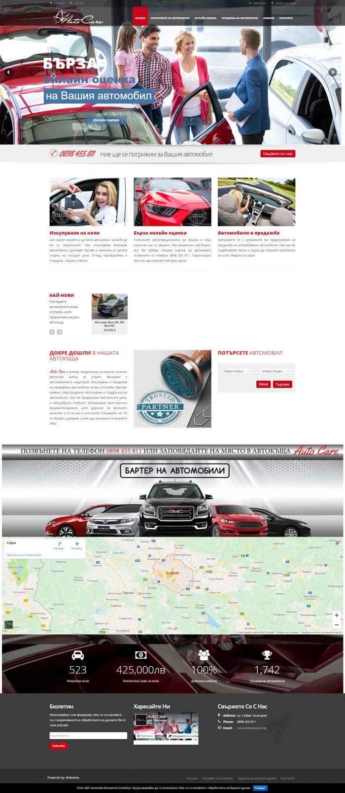 Изработка на сайт за коли, https://webnime.com/