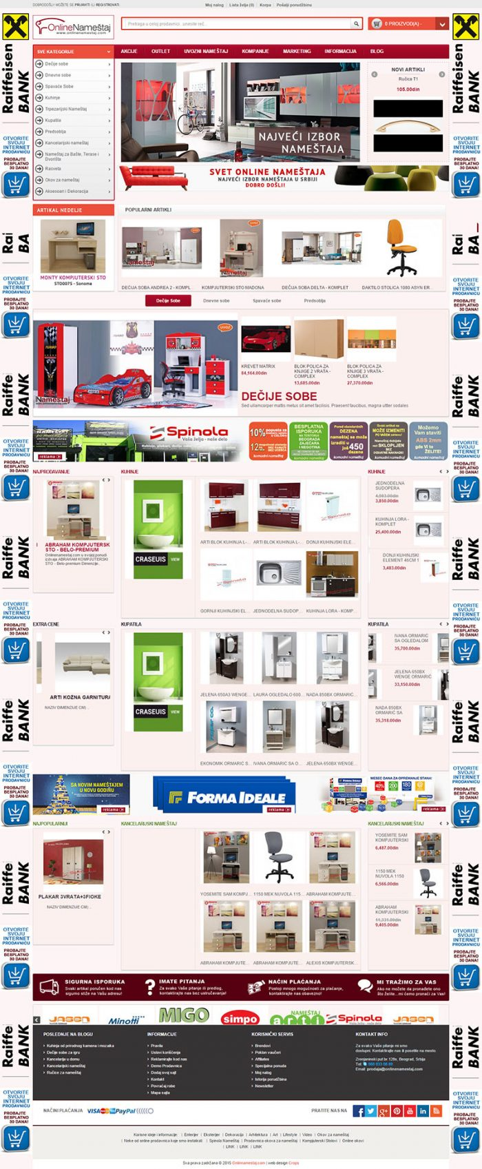 Сайт на магазин за мебели, https://webnime.com