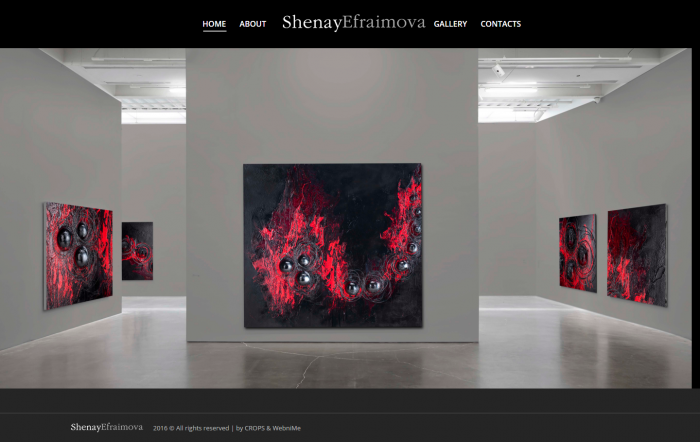 Сайт-галерия на художник, https://webnime.com/