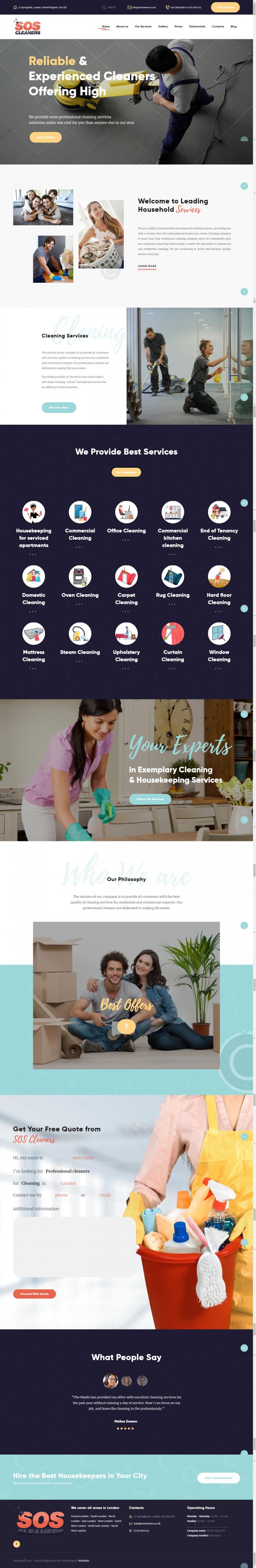 Изработка на сайт за почистващи услуги, https://webnime.com/