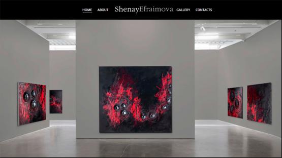 Сайт-галерия на художник, https://webnime.com