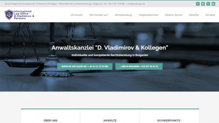 Уеб сайт за адвокати на немски, https://webnime.com