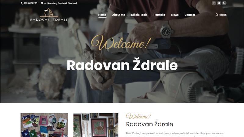 Изработка на сайт за Radovan Ždrale, https://webnime.com