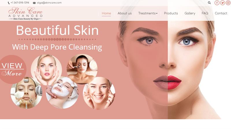 Изработка на сайт за Skin Care, https://webnime.com