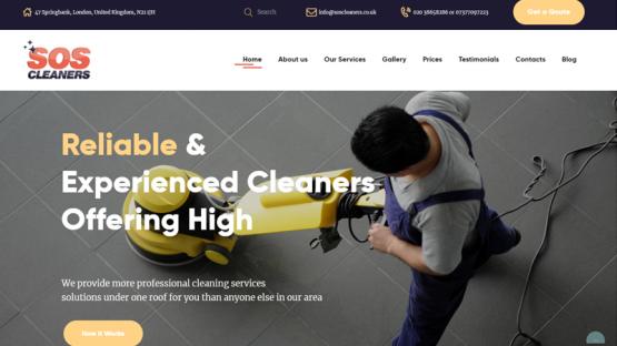 Изработка на сайт за почистващи услуги, https://webnime.com