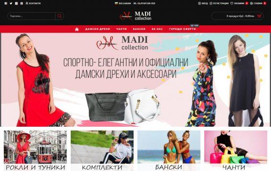 Изработка на онлайн магазин – Madicollection, https://webnime.com