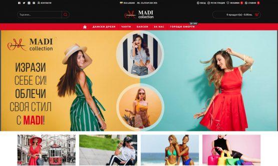 Изработка на онлайн магазин – Madicollection