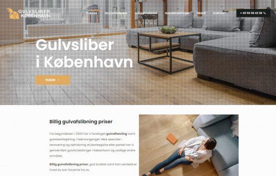 Сайт за подови услуги в Дания, Gulvsliber