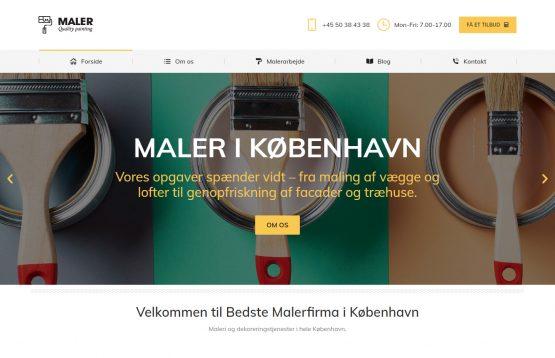 Изработка на фирмен сайт за бояджийски услуги